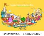 vector design of indian collage ... | Shutterstock .eps vector #1480239389