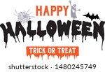 happy halloween trick or treat... | Shutterstock .eps vector #1480245749