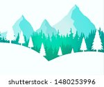 beautiful mountain during the... | Shutterstock .eps vector #1480253996