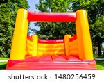 Small photo of new bouncy castle at a park