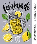 cup with lemonade  sketch for... | Shutterstock .eps vector #1480277330