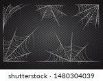 cobweb set  isolated on black... | Shutterstock .eps vector #1480304039