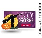 halloween sale  up to 50  off ...   Shutterstock .eps vector #1480308800