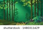 moonlight illuminating a... | Shutterstock .eps vector #1480311629