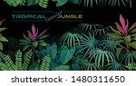 seamless tropical forest with... | Shutterstock .eps vector #1480311650