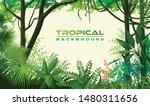 tropical trees  plants  herbs... | Shutterstock .eps vector #1480311656