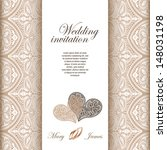 wedding invitation decorated... | Shutterstock .eps vector #148031198