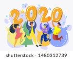 illustration for the new year... | Shutterstock .eps vector #1480312739