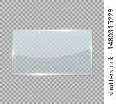 rectangle transparent glass...   Shutterstock .eps vector #1480315229