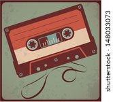 audio cassete. vector. | Shutterstock .eps vector #148033073