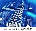 blue toned illustration of a... | Shutterstock . vector #148033859