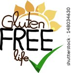 gluten free life. hand drawn...   Shutterstock .eps vector #148034630