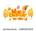 happy birthday greeting card... | Shutterstock .eps vector #1480365203