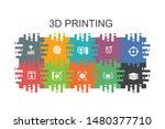 3d printing cartoon template...   Shutterstock .eps vector #1480377710