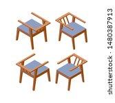 isometric modern chair for...   Shutterstock .eps vector #1480387913
