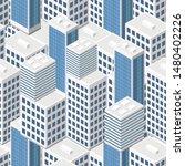 isometric buildings. seamless...   Shutterstock .eps vector #1480402226