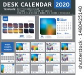 desk calendar 2020  desktop... | Shutterstock .eps vector #1480425140