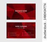 red geometric business card... | Shutterstock .eps vector #1480434776