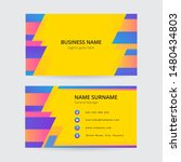 memphis colorful business card  ... | Shutterstock .eps vector #1480434803