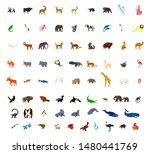 animal icon set. vector... | Shutterstock .eps vector #1480441769