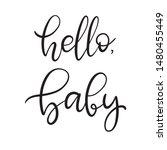 black and white lettering... | Shutterstock .eps vector #1480455449