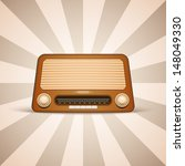 retro radio | Shutterstock .eps vector #148049330