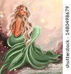 Gorgeous Mermaid Girl With...