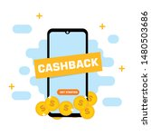 cashback concept. saving money. ... | Shutterstock .eps vector #1480503686
