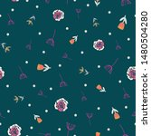 retro stylized flowers and... | Shutterstock .eps vector #1480504280