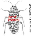 pest control word cloud | Shutterstock .eps vector #148050449
