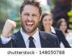 a young successful man  male... | Shutterstock . vector #148050788