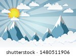 the mountains with views over... | Shutterstock .eps vector #1480511906