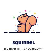 squirrel character illustration ... | Shutterstock .eps vector #1480552049