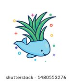 cute whale cartoon illustration ... | Shutterstock .eps vector #1480553276