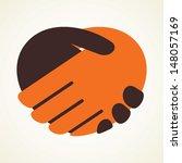 handshake icon stock vector | Shutterstock .eps vector #148057169