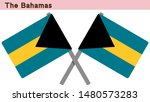 bahamas flags isolated on white ... | Shutterstock .eps vector #1480573283
