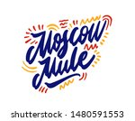 moscow mule hand drawn... | Shutterstock .eps vector #1480591553