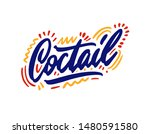 cocktail hand drawn... | Shutterstock .eps vector #1480591580