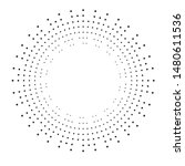 radial halftone dots in circle... | Shutterstock .eps vector #1480611536