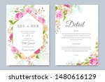 beautiful hand drawn soft roses ...   Shutterstock .eps vector #1480616129