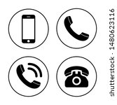 phone icon vector. call icon... | Shutterstock .eps vector #1480623116
