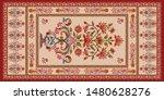 decorative mughal motif   stole ... | Shutterstock .eps vector #1480628276