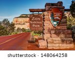 east entrance zion national... | Shutterstock . vector #148064258