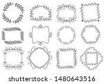 floral ornament frames.... | Shutterstock .eps vector #1480643516