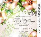 wedding card or invitation with ...   Shutterstock .eps vector #148064384