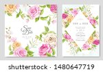 invitation card with beautiful... | Shutterstock .eps vector #1480647719