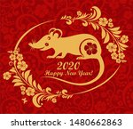 rat is a symbol of the 2020... | Shutterstock . vector #1480662863