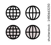globe earth vector icons set.... | Shutterstock .eps vector #1480663250