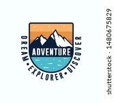 adventure vintage logo design... | Shutterstock .eps vector #1480675829