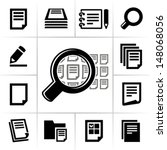 document icons | Shutterstock .eps vector #148068056
